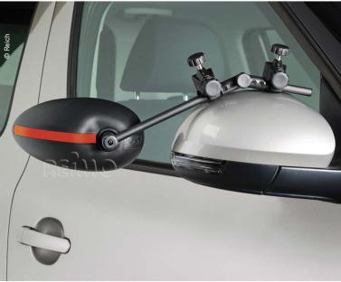 Speed Fix Aufsteckspiegel Flachglas 2er Set,farbige Sicherheitsstreife