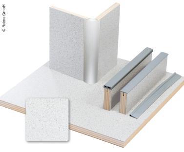 M�belbauplatte 61,1x122cm, Granitto Schichtstoff, 1/4 Platte