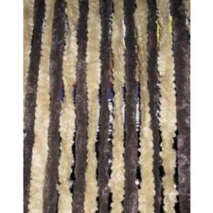 Flauschvorhang 56x185 braun/beige