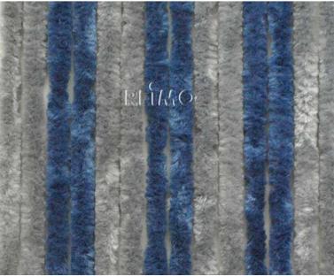 Flauschvorhang 120x185 grau/dunkelblau