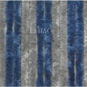 Flauschvorhang 56x185 grau/dunkelblau