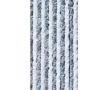 Flauschvorhng 56x185 grau/wei�