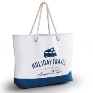 Strandtasche Holiday Travel, Canvas, 60x40x14cm