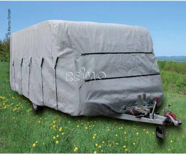 Wohnwagen Schutzh�lle 700x230x220cm, grau