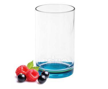 Gimex Trinkglas aus SAN, t�rkisfarbener Boden, 250ml