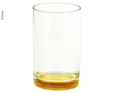 Gimex Trinkglas aus SAN, gelbfarbener Boden, 250ml