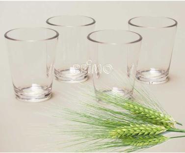 Kunststoff Gl�ser Schnaps 4er-Set 50ml stapelbar Polycarbonat