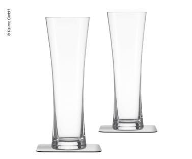 Biergl�ser Magnet+ 2er-Set, 330ml, H21,7x�7,4cm, Kristallglas