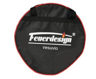 Tasche f.Vesuvio f.Feuerdesign-Tischgrill, grau