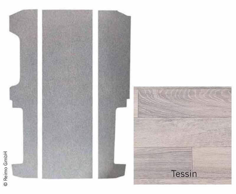 Bodenplatte VW T6/T5 KR V3000 3-tlg.826 mm Dekor Tessin Rechtsl.VW Einstiesleis