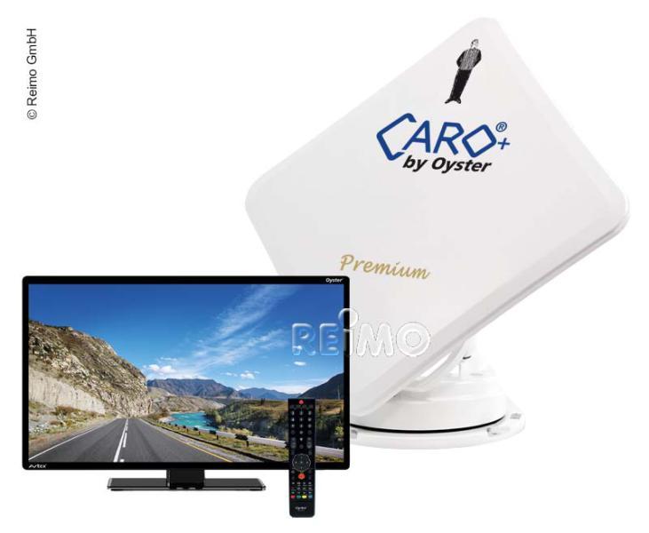 """Caro+ Premium Sat-Anlage inkl.24""""Oyster TV"""