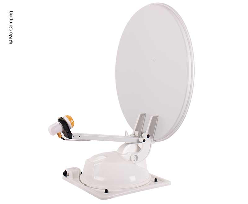 Mc Camping Antenne 80 weiß, 80cm, 2 Satelliten