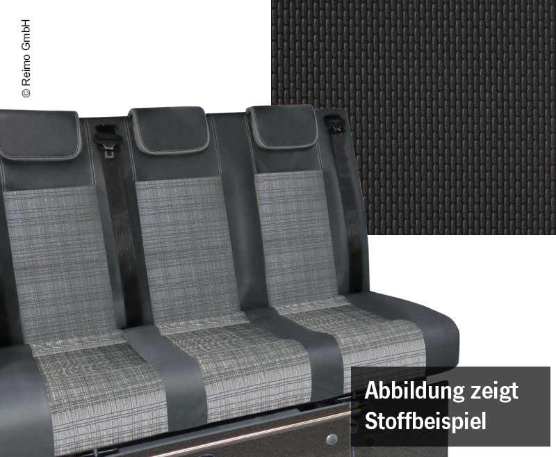 Schlafsitzbank VW T6.1,Trio Style V3000 Gr.8 3-sitzig Polster Briks  2-farbig