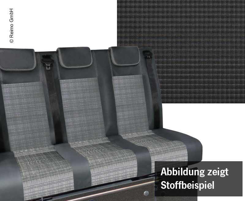 Schlafsitzbank VWT6.1,Trio Style V3000 Gr.8 3-sitzig Polster Double Grid 2 fbg.