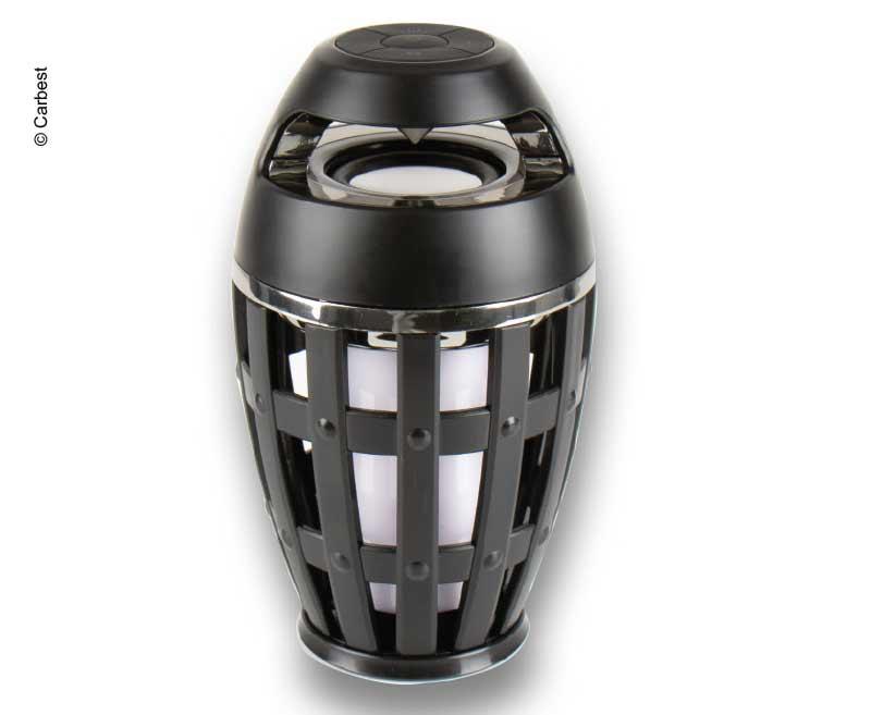 LED Fackel Leuchte mit Bluetooth Lautsprecher 9,8 x 14 x 9,8 cm