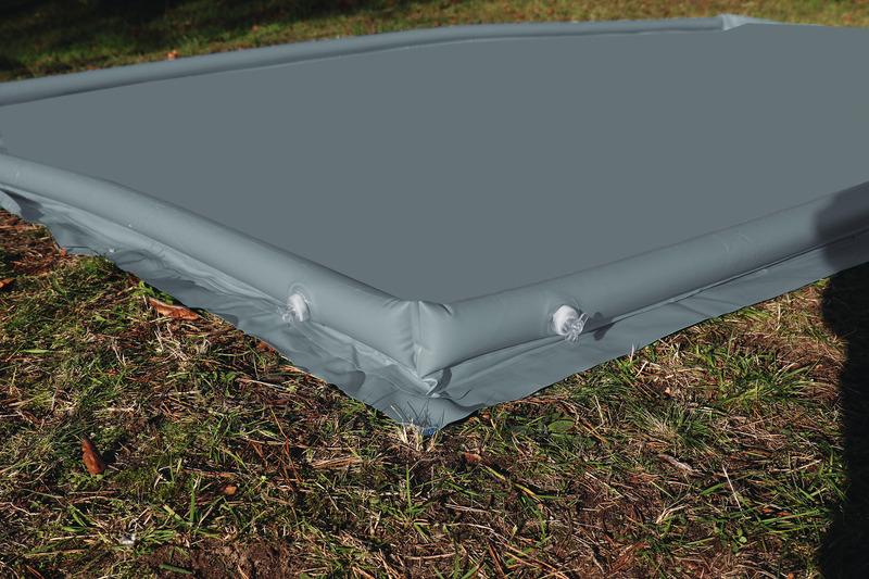 Zeltunterlage, Rand aufblasbar, Wasserbodenplane 250x250