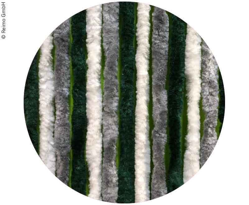 Flauschvorhang 56x185  Grau/Dunkelgrün/Weiß