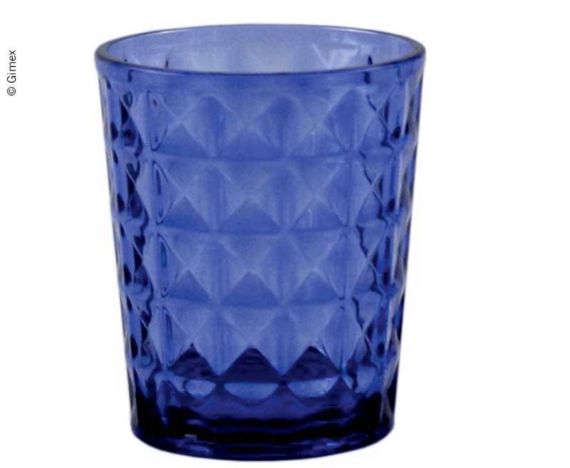 Gimex Trinkglas STONE LINE AZURE 480ml, Wasserglas