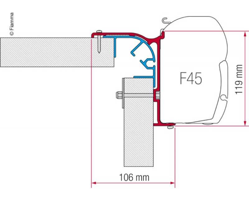 Fiamma Adapter Kit Bailey MK 1