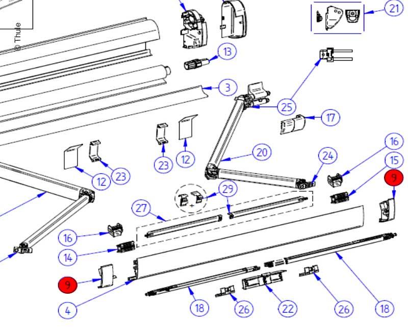 LH+RH Endcap Leadrail5200