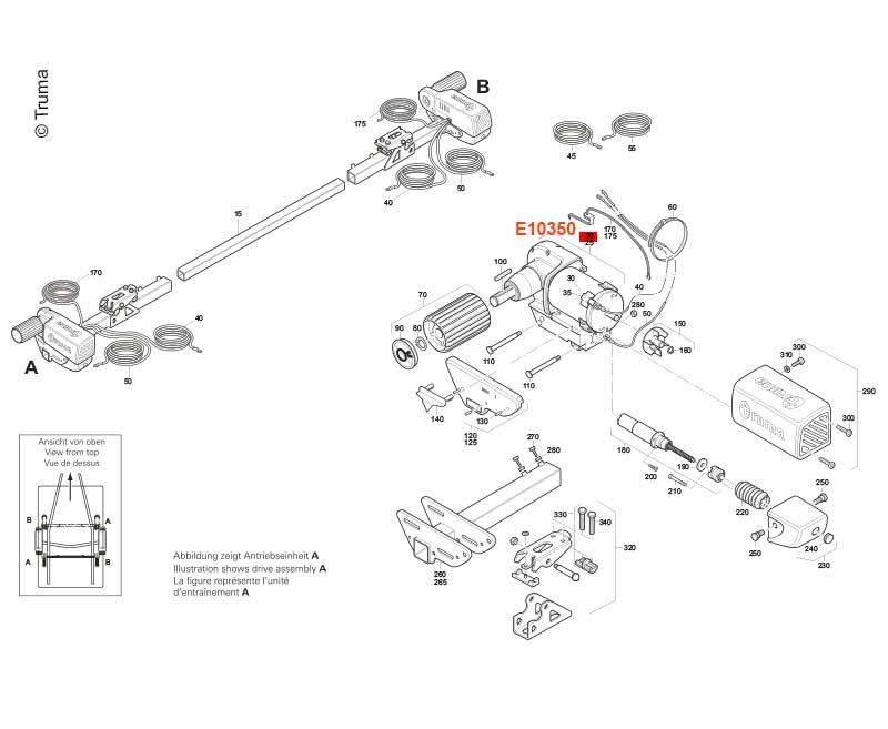 """Motor/Getriebe""""A"""" SE R/TE R"""