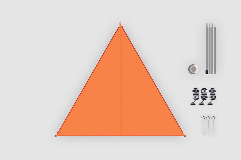 """BENT Sonnensegel / Canvas """"Oriental"""" orange"""