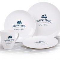 PLA Geschirr-Set HOLIDAY TRAVEL, 8-tlg.,f�r 2 Pers., Mikrowellengeeign
